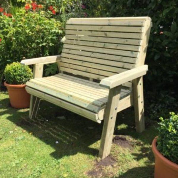 PT2SB 2 seater pine bench