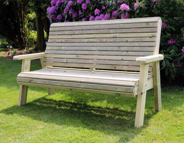 PT3SB 3 seater Swedish redwood bench