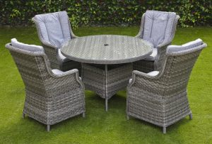 Amalfi 4 seater glass top garden set