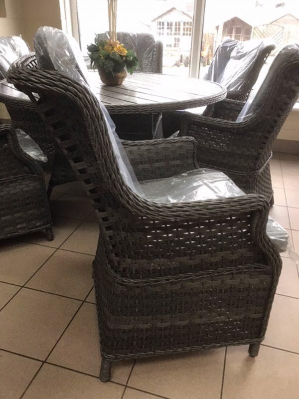 Amalfi 4 seater glass top garden set