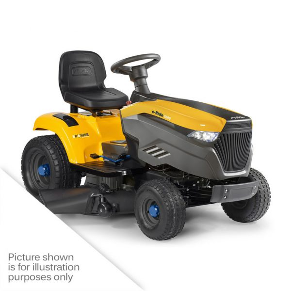 e Ride S 500 battery ride on side discharge mulching mower