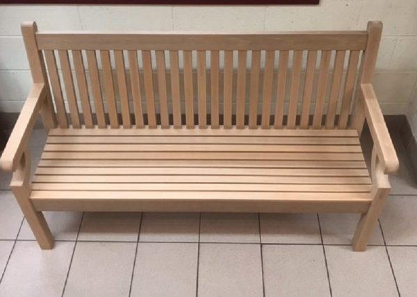 SWNT3 3 seater polymer teak bench