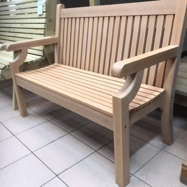 SWNT2 2 seater polymer teak bench
